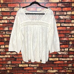 Size 26 Lace White Simply Be Blouse
